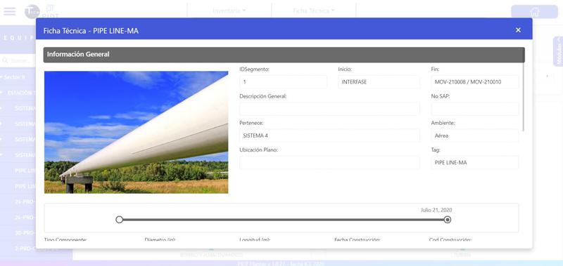 PIDT ficha técnica de activos (ductos y plantas)